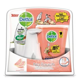 Distributeur de savon automatique Dettol + Recharge 250ml (Via 4,38€ sur la carte de fidélité)