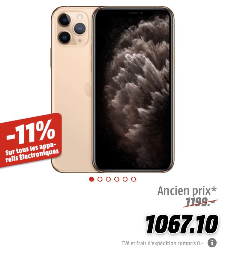"Smartphone 5.8"" Apple IPhone 11 Pro - 64Go (Frontaliers Suisse)"