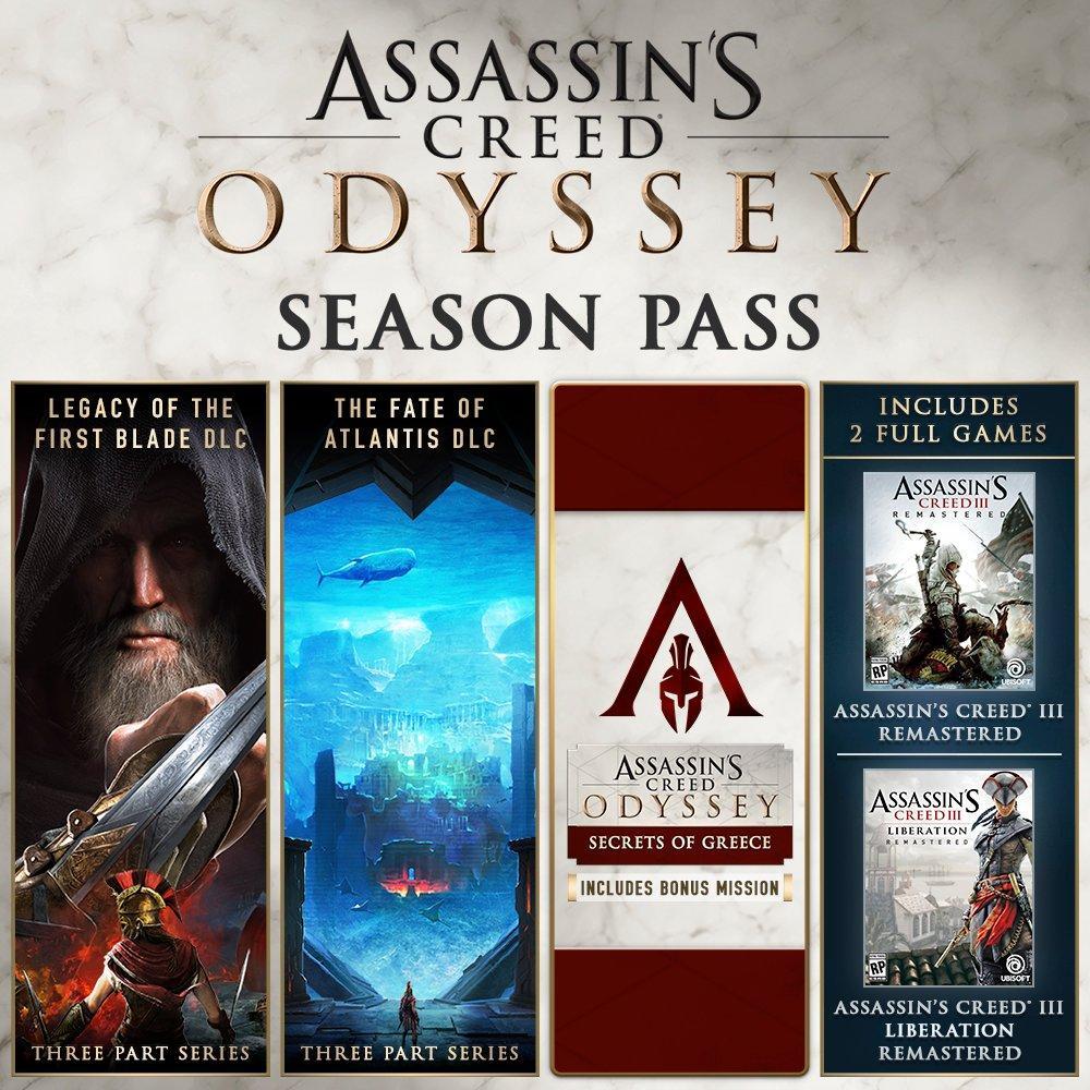 Sélection de jeux vidéo et DLCs Assassin's Creed en promotion sur PC (Dématérialisé - Steam) - Ex : Season Pass Assassin's Creed Odyssey