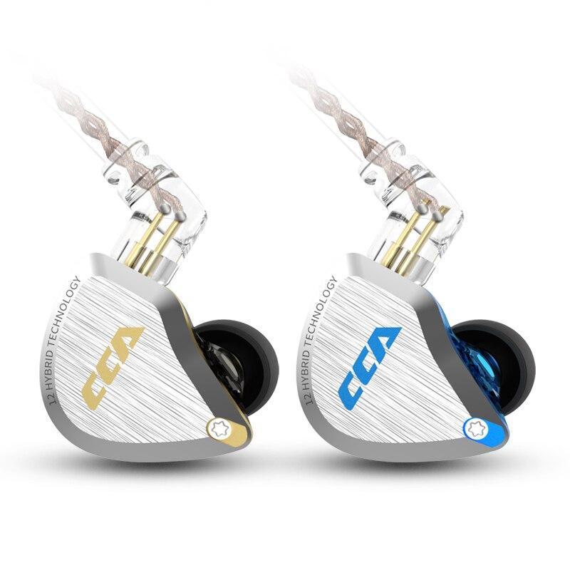 Écouteurs intra-auriculaires filaires CCA C12 - 12 haut-parleurs, bleu ou or (28.09€ via l'application)
