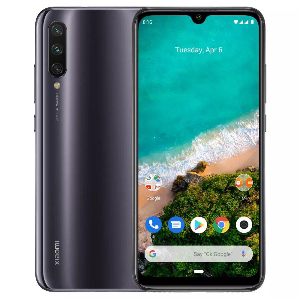 "Smartphone 6.09"" Xiaomi Mi A3 (Coloris au choix) - HD+, SnapDragon 665, RAM 4Go, 64Go, 4G (B20)"