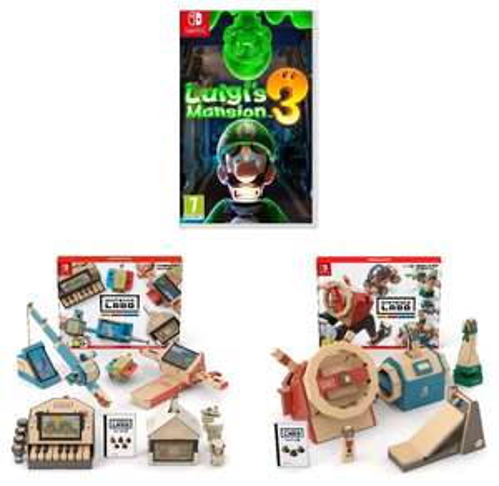 Sélection de packs - Ex : Luigi's Mansion 3 sur Switch + Nintendo Labo Multi-Kit + Vehicle Kit (84€ avec le code RAKUTEN15 + 4.20€ en SP)