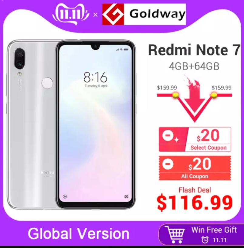 "Smartphone 6.3"" Xiaomi Redmi Note 7 - 4 Go RAM, 64 Go"
