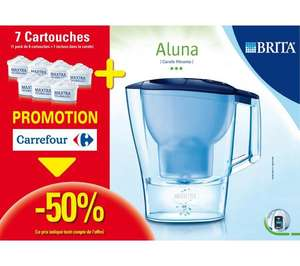 carafe filtrante brita aluna 2 4 litre bleue 7 cartouches maxtra. Black Bedroom Furniture Sets. Home Design Ideas