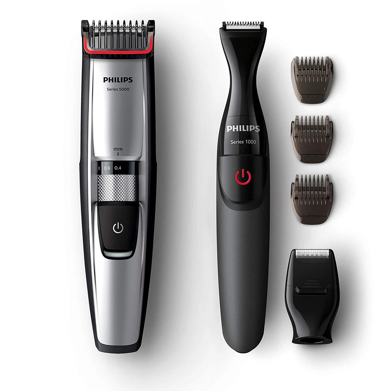 Tondeuse Barbe Philips Series 5000 BT5205/85 + Tondeuse de Précision + Accessoires