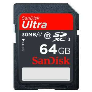 SanDisk Carte Mémoire SDXC 64Go Classe 10