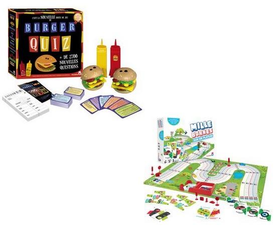 Lot de 2 jeux de société Dujardin Burger Quiz + Mille Bornes (via 21.90 € d'ODR + 10 € en fidélité + 9.36 en bon d'achat) - Savenay (44)