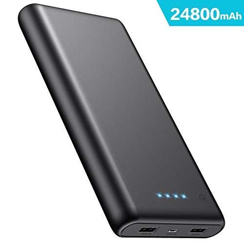 Batterine externe iPosible - 24800 mAh, 2 ports USB, noir (vendeur tiers)