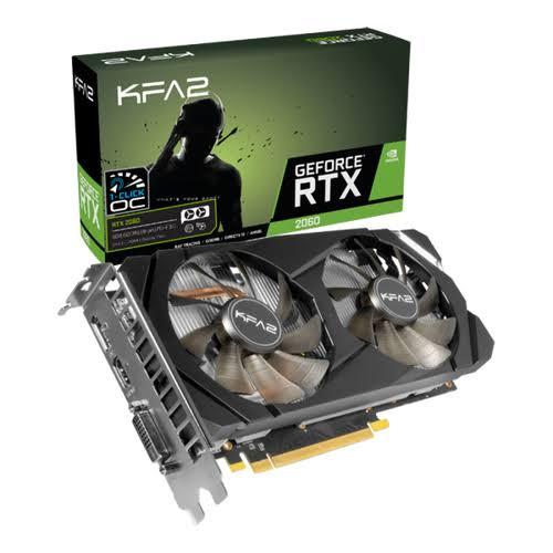 Carte graphique KFA2 GeForce RTX 2060 (1-Click OC) - 6 Go (284,71€ avec ASGD11)