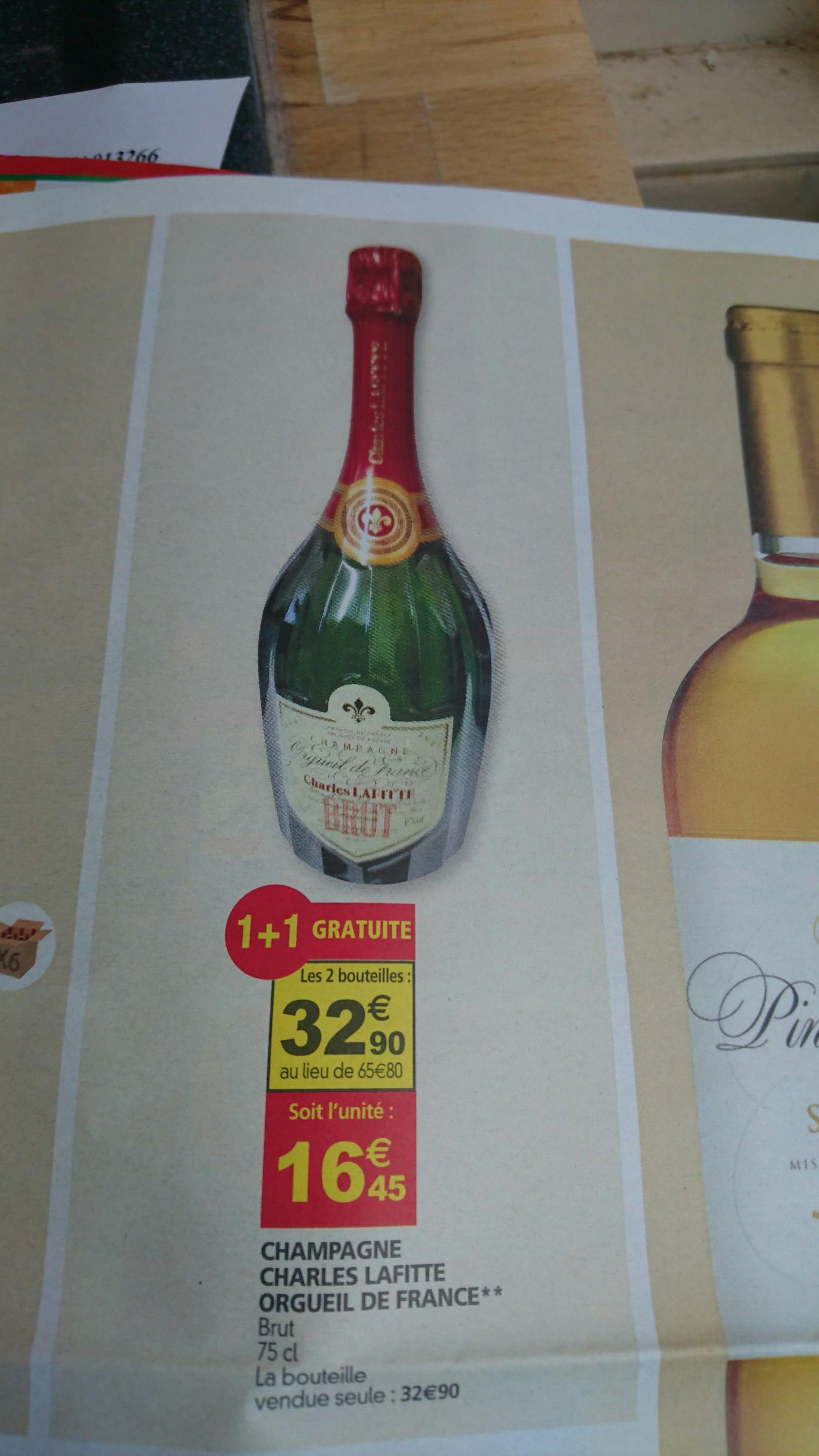 Lot de 2 bouteilles de Champagne Charles lafitte