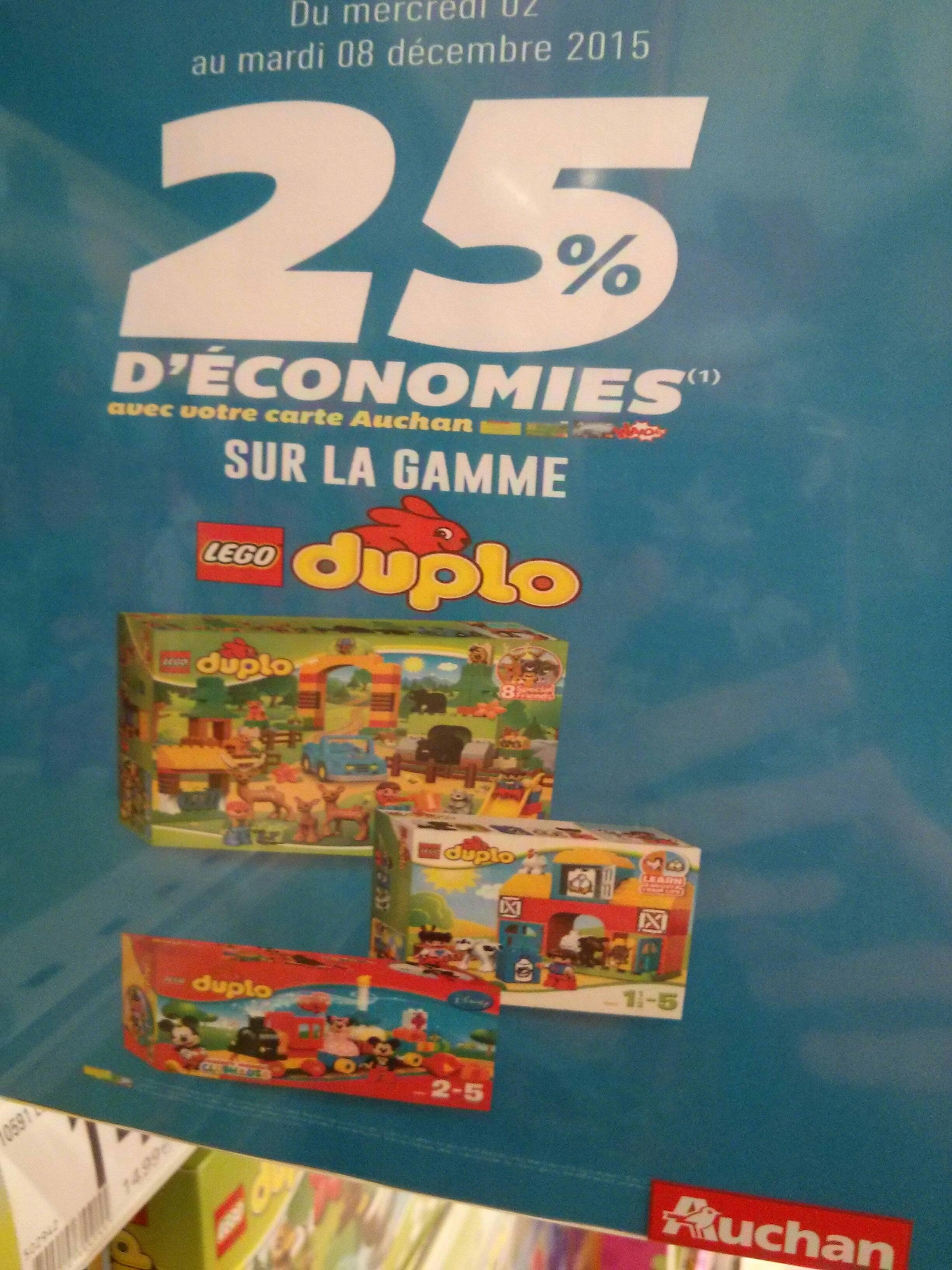 25% de remise fidélité sur une sélection de jouets Lego / Duplo (optimisation possible via shopmium)