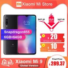 "Smartphone 6.39"" Xiaomi Mi 9 - full HD+, SnapDragon 855, 6 Go de RAM, 64 Go, 4G (B20/B28), noir"