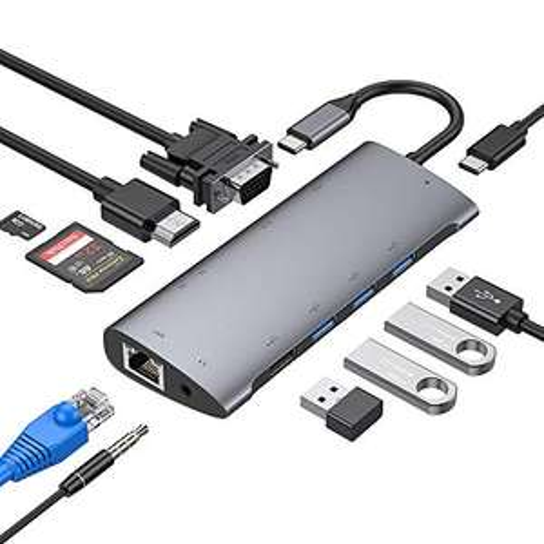 Hub USB type C Strenter - 11 fonctions (vendeur tiers)