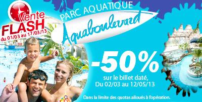 Vente Flash : -50% sur votre billet Aquaboulevard - Enfant : 7,5€ & Adulte :