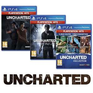 Pack Playstation Hits - Uncharted: The Nathan Drake Collection + Uncharted 4: A Thief's End + Uncharted: The Lost Legacy sur PS4