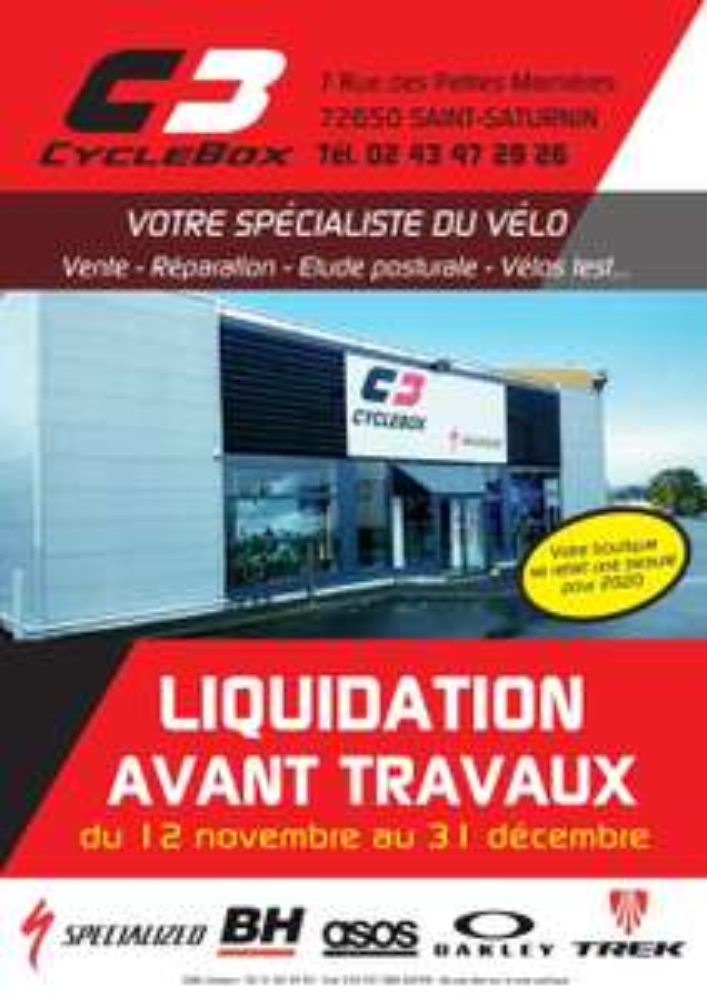 Liquidation sur tout le magasin - Ex : Gants Deflect H2O Therminal - à Cyclebox Le Mans (72)