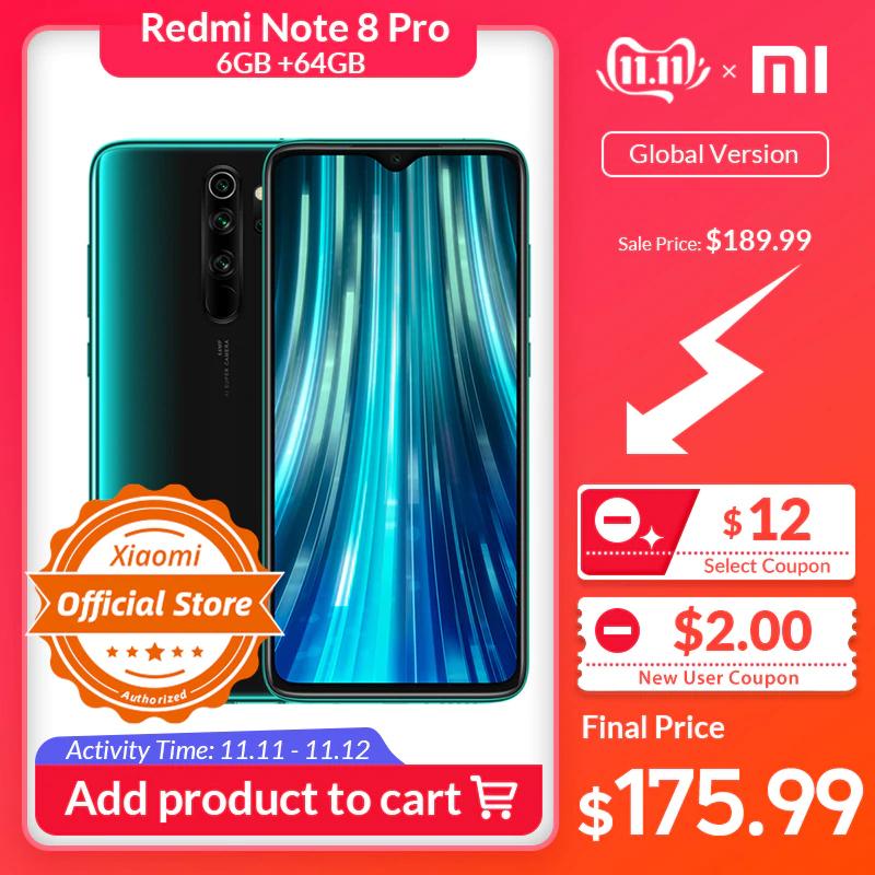 Smartphone 6,53'' Xiaomi Redmi Note 8 Pro - MediaTek Helio G90T, 6/64 Go