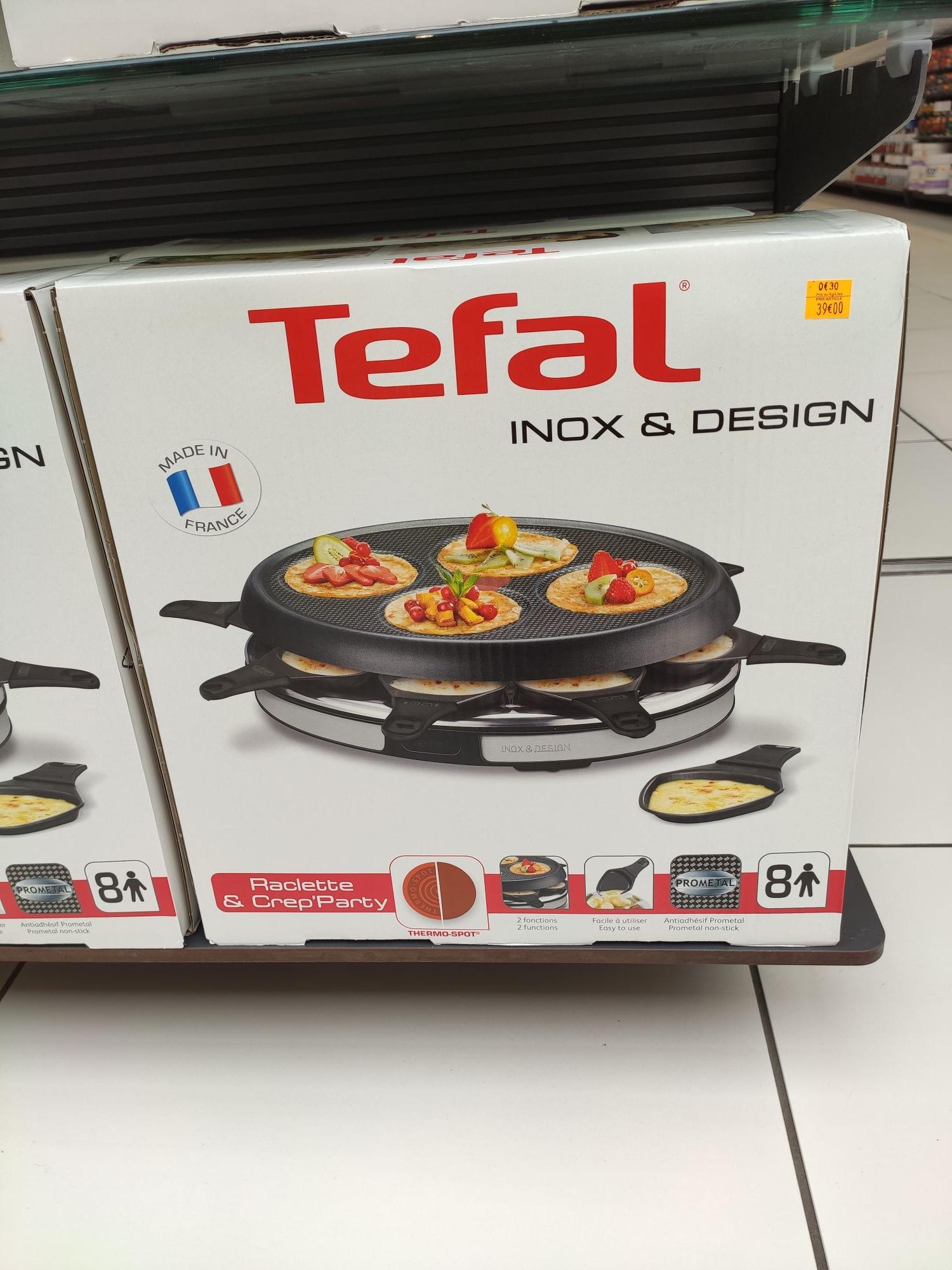 Raclette Crêpes Tefal Raclette et Crep'party - 8 personnes (Brezet 63)