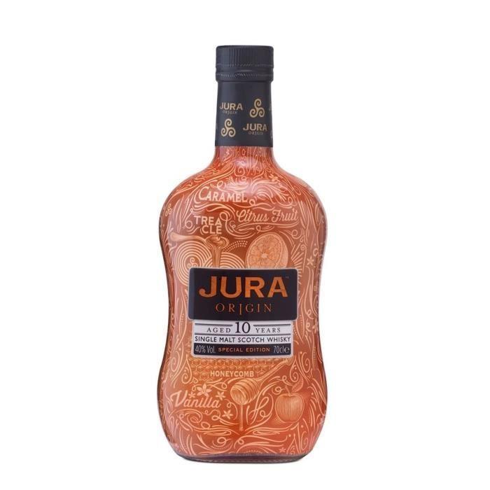 Bouteille de Whisky Jura 10 ans Origin - Tattoo Edition, 70cl