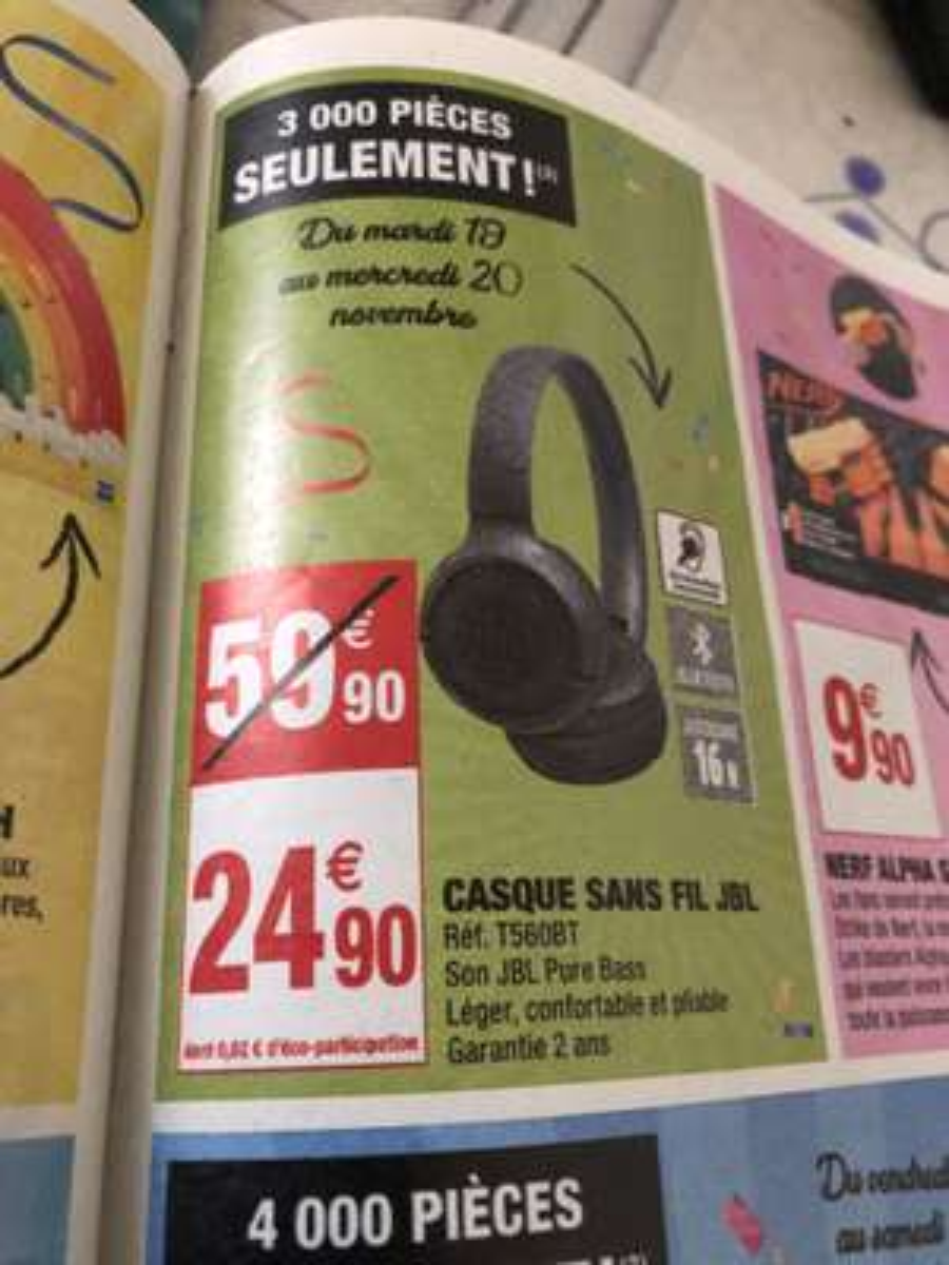 Casque sans-fil JBL T560BT dans certains Carrefour market voir liste ci-dessous