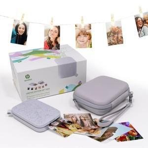 Imprimante photo de poche HP Sprocket 200 Grise + Housse de Protection + Guirlande Lumineuse