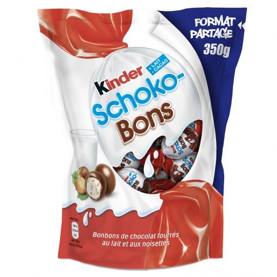 Sélection de chocolats Kinder en promotion - Ex : lot de 3 sachets de Schoko-Bons (3x350 g)