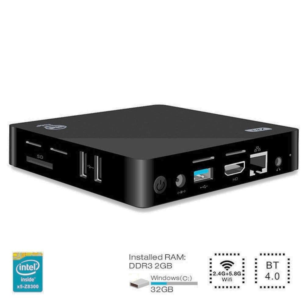 Mini-PC Fanless Z83II - Atom X5-Z8350, RAM 4 Go, SSD 64 Go (eMMC), Windows 10, HDMI, USB 3.0
