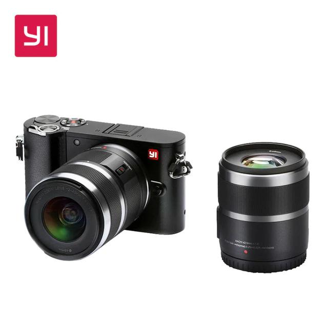 Appareil photo numérique Yi M1 - avec objectifs 12-40 mm f/3.5-5.6 + 42.5 mm f/1.8