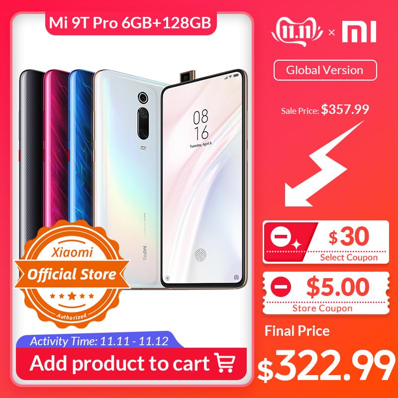 """Smartphone 6.39"""" Xiaomi Mi 9T Pro - full HD+, SnapDragon 855, 6 Go de RAM, 128 Go, 4G (B20/B28), bleu"""