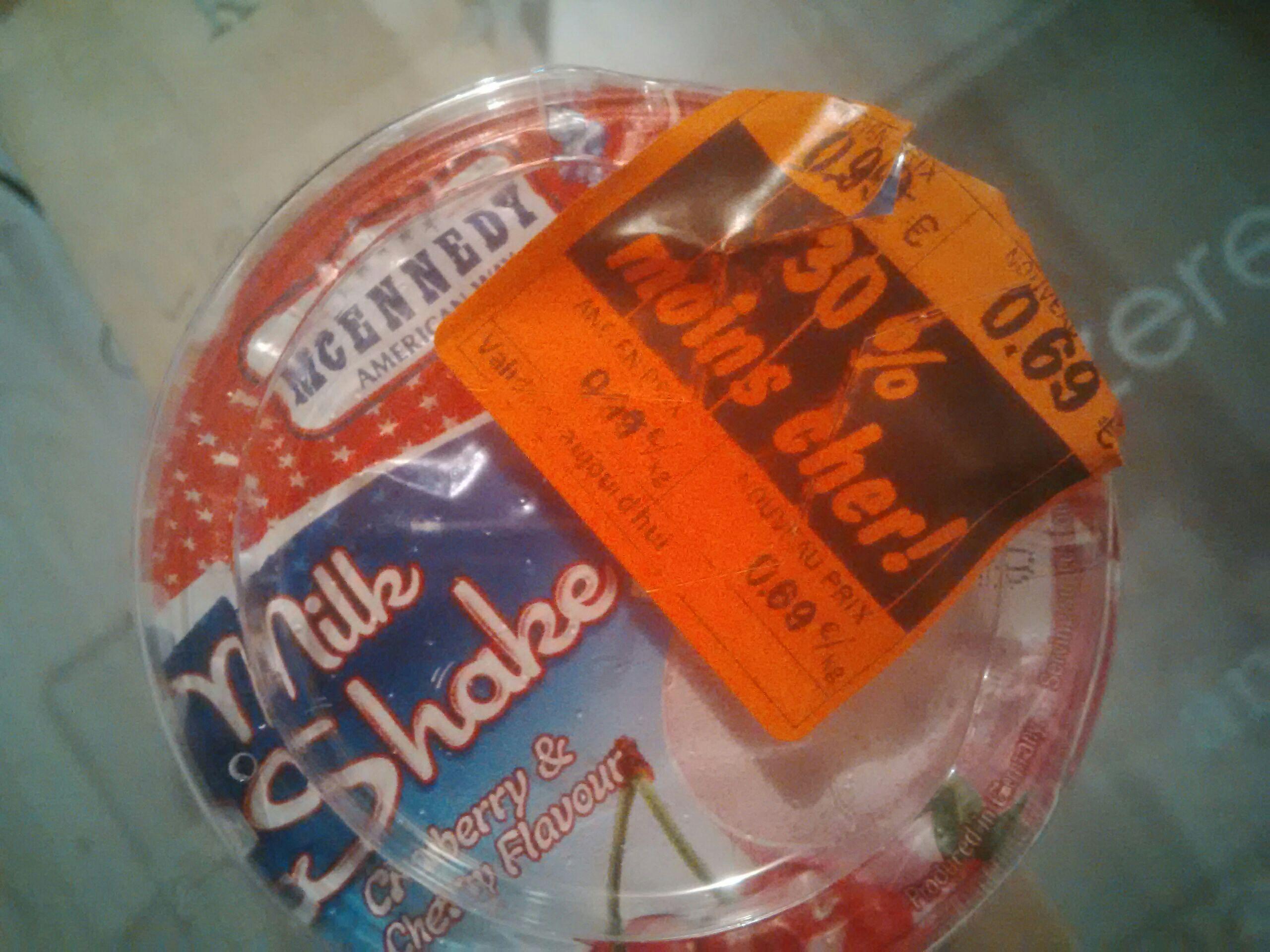 Bouteille Milk shake - fraise/cerise; 230ml, Lidl Voujeaucourt (25)