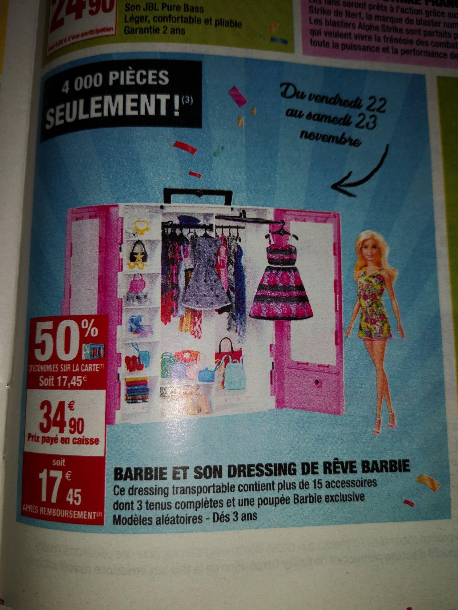 Barbie et son dressing (via 17€45 fidélité)