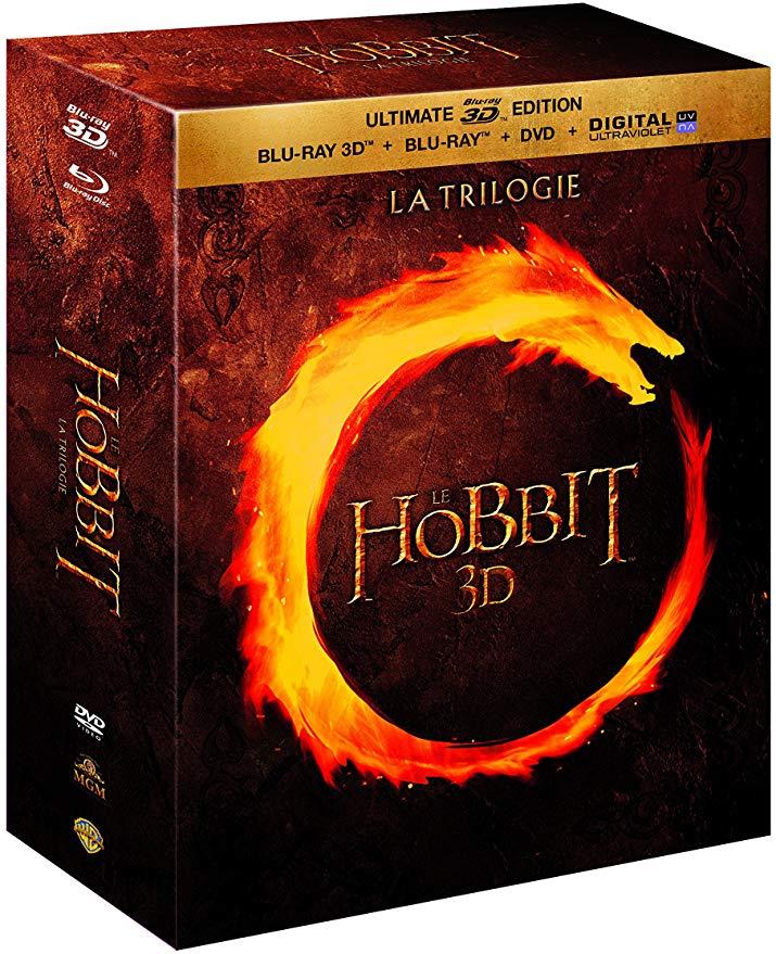 Coffret Blu-ray 3D + Blu-ray + DVD : Le Hobbit - La Trilogie (vendeur tiers)