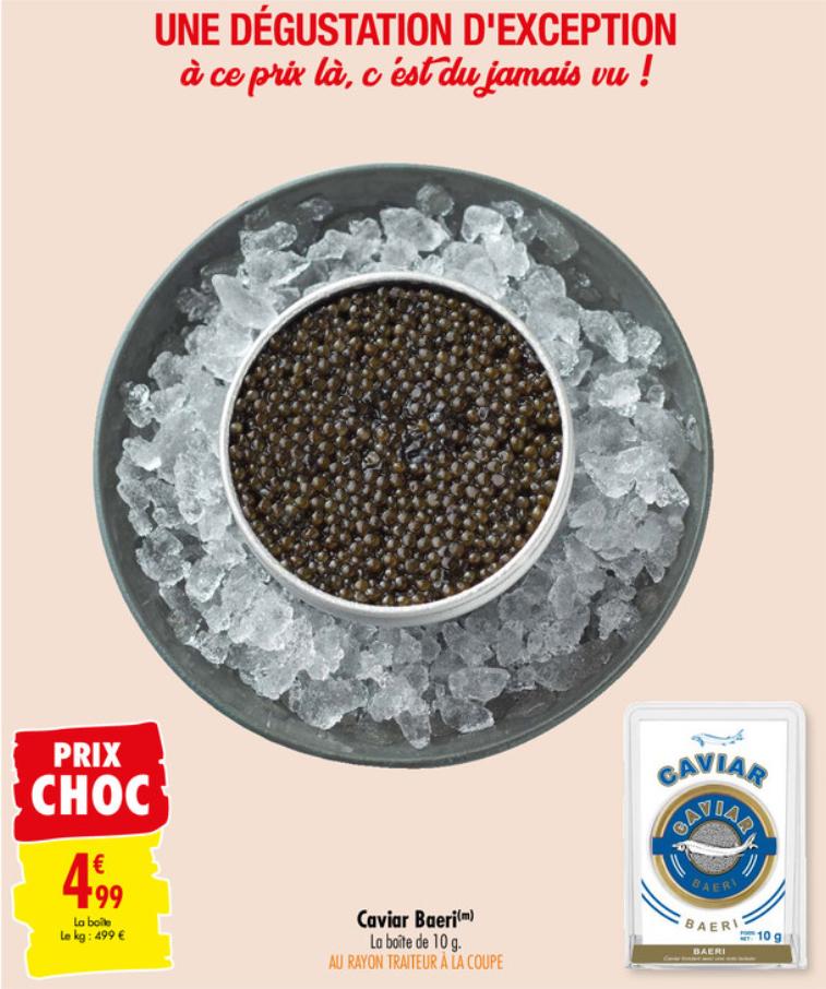 Boite de Caviar Baeri - 10g (Origine Italie)