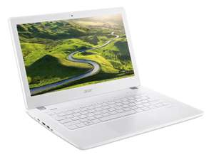 "PC Portable 13"" Acer Aspire V3-372T-53LA - Tactile, Full HD, i5-6200U 2.3 GHz, RAM 8 Go, HDD 1 To, Windows 10, Blanc"