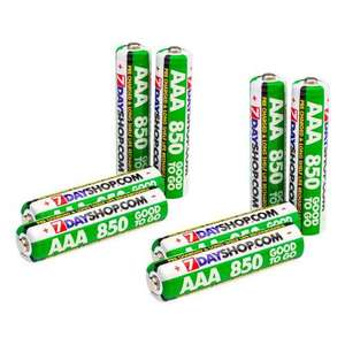 Lot de 8 accus / piles rechargeables 7dayshop - AAA