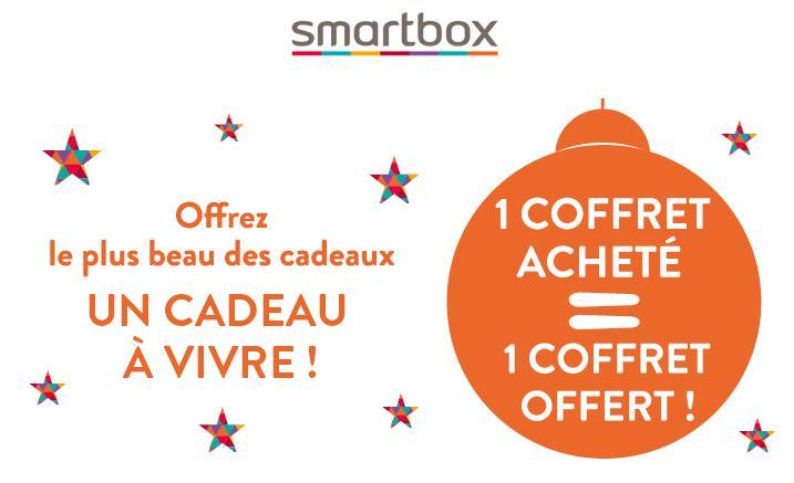 Un E-Coffret Smartbox offert (valeut de 29,90€) pour l'achat d'un coffret à 60€ minimum