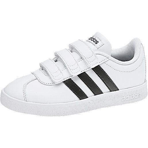 Sneakers à scratch Adidas Vl Court 2.0 pour Enfants - Tailles 28 à 35