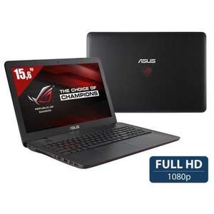 "PC Portable 15.6"" Asur ROG G551JW-DM222T (Full HD, i5-4200H, HDD 1 To + SSD 128 Go, RAM 8 Go, GTX 960M 2 Go, Windows 10, Noir)"