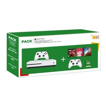 Console Microsoft Xbox One S 1 To + FIFA 20 + NBA 2K20 + Forza Horizon 4 + 2 manettes + 3 mois de Live Gold