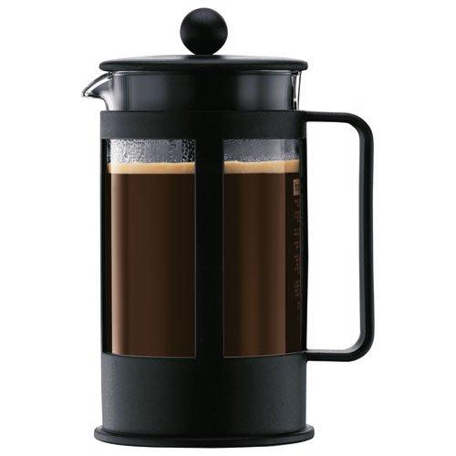 Cafetière à piston Bodum Kenya 1788-01 - 1 L, Noire