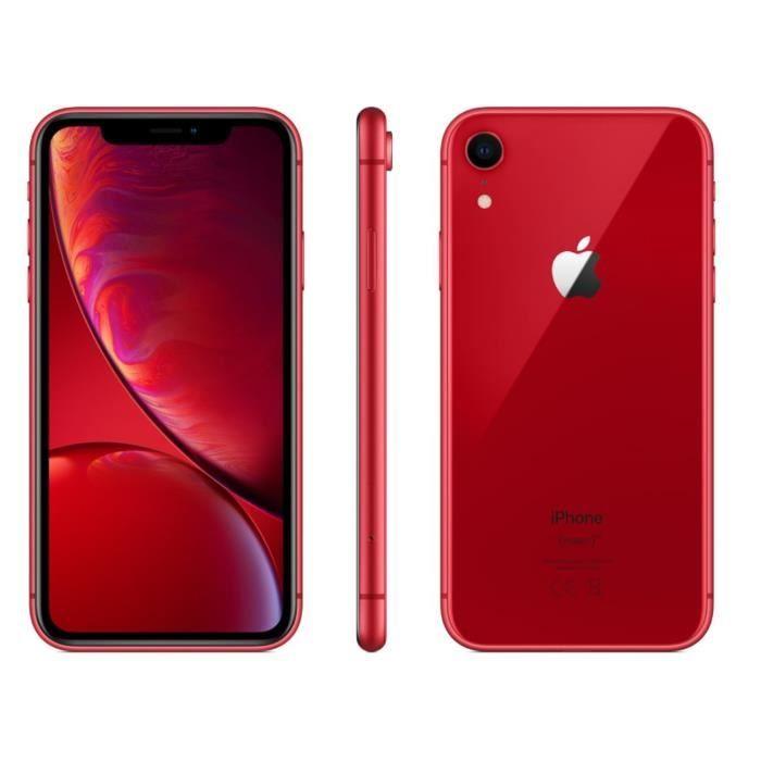 "[CDAV] Smartphone 6.1"" Apple iPhone Xr - full HD, A12, 3 Go de RAM, 64 Go, noir ou rouge (vendeur tiers)"