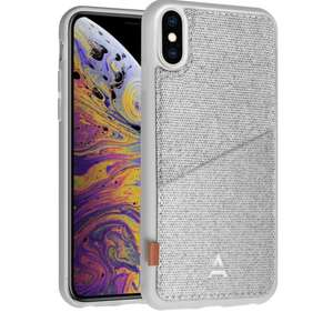 Coque Adeqwat pour iPhone Xs Max - Porte-carte Aimantée, Gris (retrait en magasin uniquement)