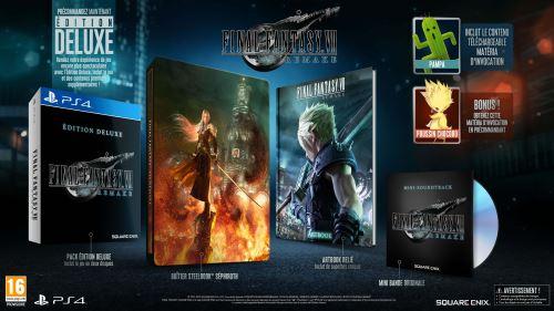 [Adhérents - Précommande] Final Fantasy VII Remake Deluxe Edition PS4 + Écusson + Dessous de verre