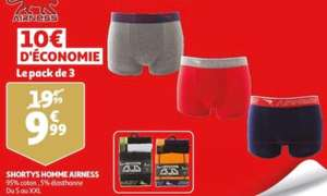 Pack de 3 caleçons Airness