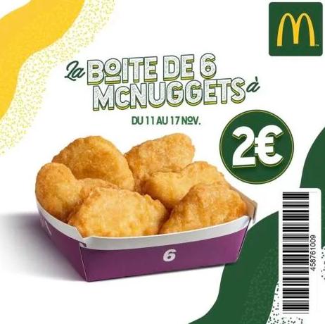 Boîte de 6 nuggets - Paris (75)