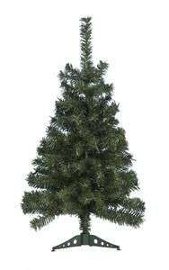 Sapin de Noël artificiel - 1 m, Vert ou Blanc