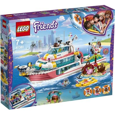 Jeu de construction Lego Friends : Le bateau de sauvetage n°41381