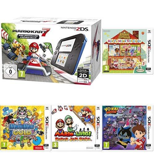 Console Nintendo 2DS Mario Kart 7 + 4 Jeux