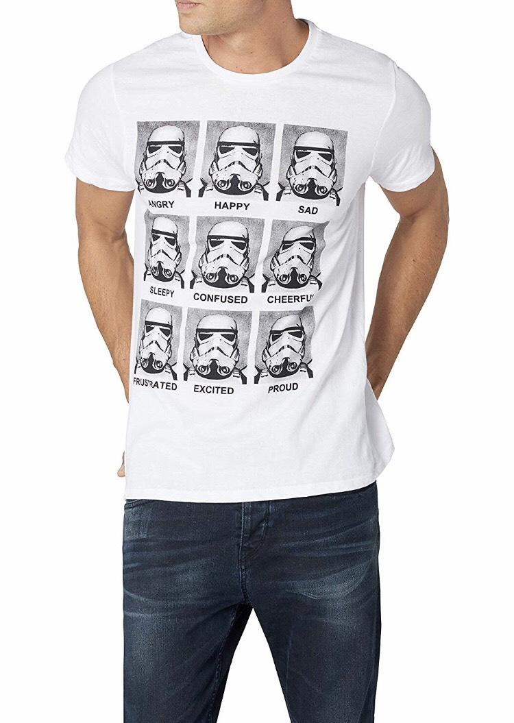 [Panier Plus] T-Shirt Star Wars Trooper Emotions pour Hommes - Tailles au choix