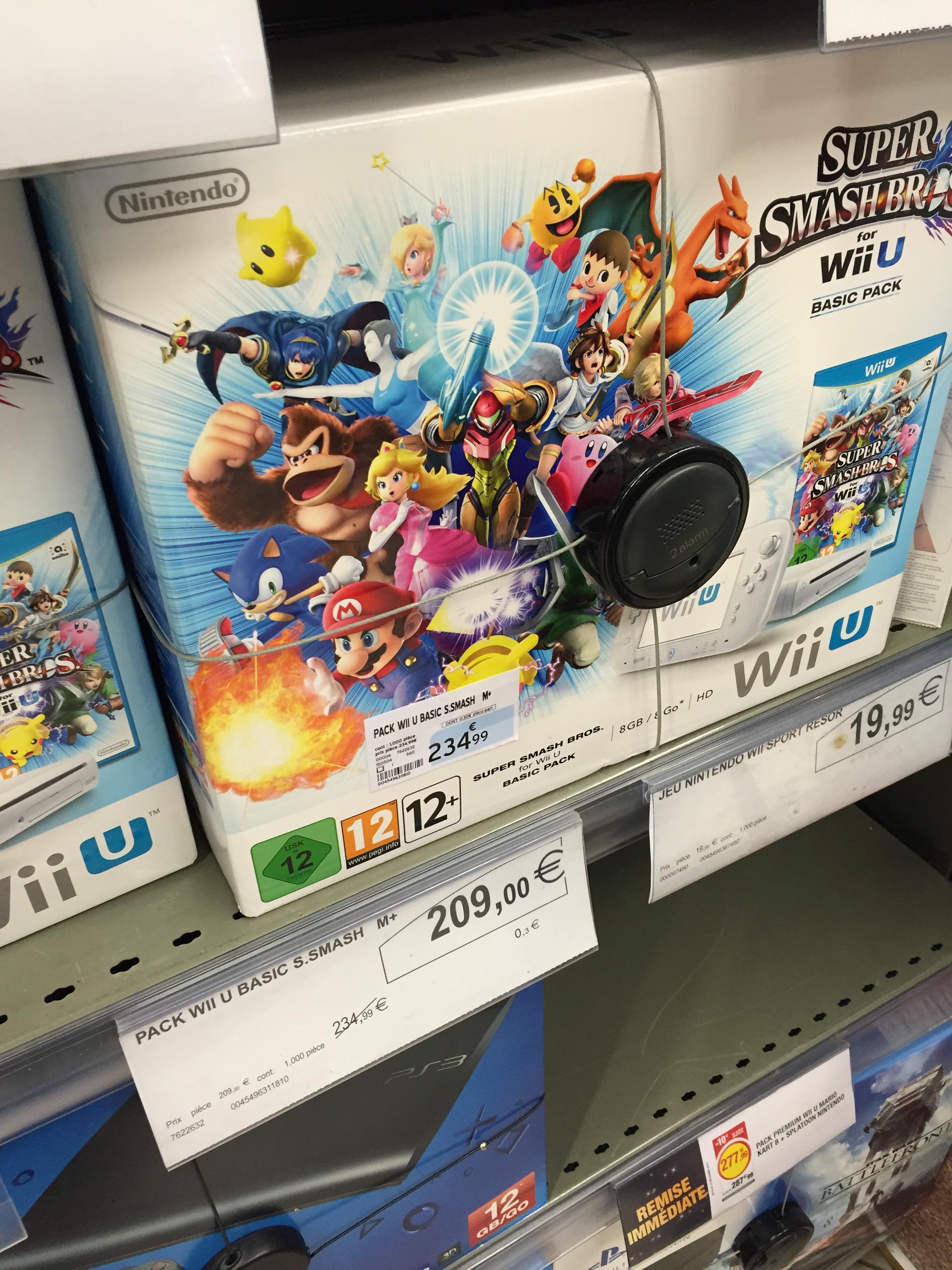Console Nintendo Wii U 8 Go + Super Smash Bros